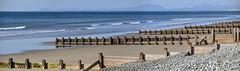 Round Wales Walk 50 - Groynes (Nikki & Tom) Tags: roundwaleswalk walescoastpath wales uk gwynedd landscape sea beach groyne seadefenses barmouth