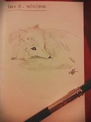 Day 8 of my sketch streak (# annola) Tags: fox volpe renard fuchs disegno dessin zeichnen sketch doodle bw pencil matita bleistift