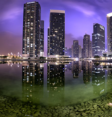 Blue Hour Magic (slimaly) Tags: dubai jlt architecture cityscapes bluehour middleeast uae d750 nikond750 wideangle panorama