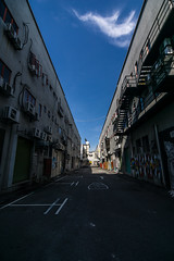 Back street (bdrc) Tags: asdgraphy back street alley blue sky graffiti road shah alam sony a6000 tokina 1116 ultrawide urban