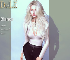 """=DeLa*= new hair """"Bianca"""" (=DeLa*=) Tags: dela hair fitted rigged mesh materials secondlife secondlifefashion sl slhair style"""