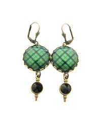 Ancient Romance Series - Scottish Tartans Collection - Kincaid Clan Sgian Dubh Charm Earrings