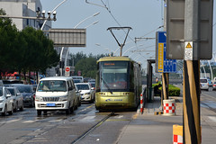 TEDA Modern Guided Rail Tram 007 (Howard_Pulling) Tags: tianjin tram trams strassenbahn china chinese howardpulling