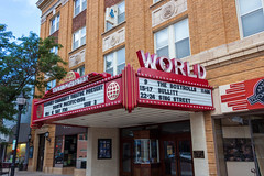World Theatre Marquee (Eridony) Tags: kearney buffalocounty nebraska downtown sign marquee theater theatre movietheater constructed1927