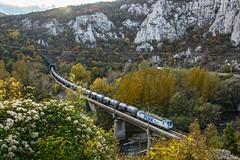 Autumn Vectron (Rivo 23) Tags: pimk rail bulgaria electric locomotive siemens vectron class 192 962 freight train bulgarian railways iskar river gorge cherepish tank cars