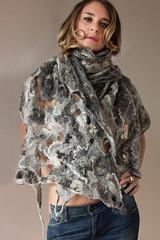 COBWEB GRAY (ResPiri handmadefelt) Tags: eco fashion moda sciarpa accessori accessories felt feltro cobweb scarf fiber art winter natural anic organic