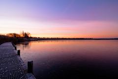 Sunrise over the frozen lake! (Jantje1972) Tags: lake sunrise quay water ice sky tree trees reed riet bevroren ijs aanlegsteiger boom bomen zonsopkomst autumn herfst frozen