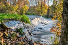 Autumn Falls (tquist24) Tags: bonneyvillemillcountypark hdr indiana nikon nikond5300 outdoor autumn fall geotagged longexposure park river tree trees water waterfall