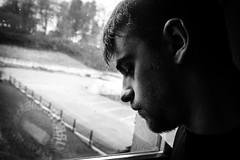 Mlancolie hivernale (Gaetan682) Tags: france yeux eye bokeh ios lightroom beautiful beau natural naturel lumire sel 1650 bw nb automne autumn winter hiver temps long histoire story reflet fentre trpied autoportrait blackandwhite noiretblanc selfie portrait e nex alpha a6000 sony