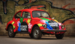 beetle (try...error) Tags: vw flower power red leica car beatles rot käfer auto coche