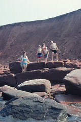 PEI - 2001 (194-01) (MacClure) Tags: canada family pei princeedwardisland stcolumba rocks patty jason andrew tyler carolyn deanna