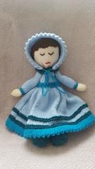 Peek-a-Boo Doll (dollysdaydreamsgifts) Tags: knitting doll keepsake blue asleep awake play toy etsy dollysdaydreamsgifts