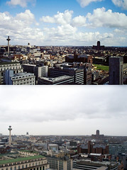 View from the Liver Building,1980s and 2016 7 (Keithjones84) Tags: liverpool merseyside history localhistory thenandnow rephotography liverbuilding royalliverbuilding