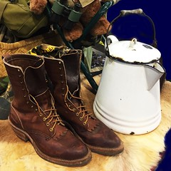 SPORTS:  Camping and hunting gear, Hathorn boots.