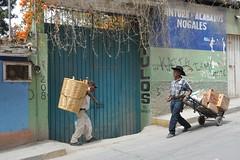 Miahuatlan Oaxaca Market Men (Ilhuicamina) Tags: markets mexican miahuatlan oaxaca chicharon people men baskets
