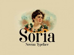 Download Soria: A free font inspired by Art Nouveau (vectorarea) Tags: exclusive featured fonts freefontstoprint serif