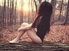 Just breathe (rxchstewxrt) Tags: selfportrait rebel t5 canon brownhair longhair woods portrait me