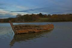 High Water on the River Deben, Woodbridge.  17 11 2016 (pnb511) Tags: suffolk rurallandscape riverside tidal boats eastanglia riverdeben mud water twighlight sky