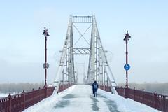 _DSC0180 (Artem_Kotenko) Tags: sony a77 a77v minolta 2485 2485mm kyiv winter autumn sun river bridge park snow cold portrait water walkway