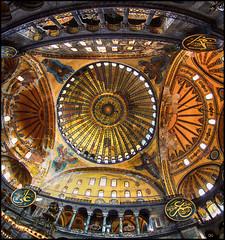 (2393) Hagia Sophia (Istanbul) Fisheye world (QuimG) Tags: hagiasophia golden turkey istanbul mosque church fisheye art olympus quimg quimgranell joaquimgranell afcastelló specialtouch obresdart
