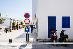 Formentera, Spain (Naomi Rahim (thanks for 3 million visits)) Tags: formentera ibiza spain españa europe europa balearicislands summer mediterranean travel nikon nikond7200 wanderlust architecture siesta travelphotography white buildings streetphotography street santfrancescxavier town village blue door motorcycle motorbike empty lonely window bluesky santfrancescdeformentera