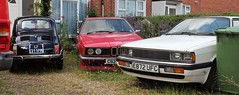 Assortment (Nivek.Old.Gold) Tags: 1987 audi coupe gt auto 2226cc jef fiat 500l france 1986 bmw 628csi