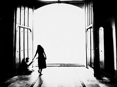 I Am The Door (Meljoe San Diego) Tags: meljoesandiego fuji x10 fujifilm streetphotography highcontrast blackwhite grain gritty