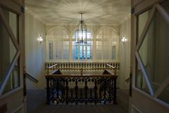 Assembly Rooms - Interior, Edinburgh (David_Leicafan) Tags: 24mmelmaritasph edinburgh assemblyrooms staircase lantern roundarched castiron