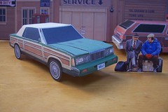 """PAPERCRAFT Planes, trains, and Automobiles"""" movie car 1986 Chrysler LeBaron woody K-car convertible (official inspection station) Tags: paper movie chrysler papercraft moviecar papercar chryslerlebaron papercraftcar papercraftchrysler papercarchrysler 1986chryslerlebaron"""
