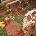 Výroba vánočních věnců