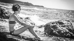 P@P 2 (D.estro) Tags: sardegna sea portrait blackandwhite bw woman sun girl sunglasses donna model mare sardinia pregnant sole ritratto biancoenero ragazza incinta modella occhialidasole