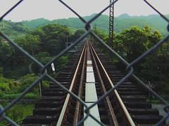 The fence (neus_oliver) Tags: tren via rejilla