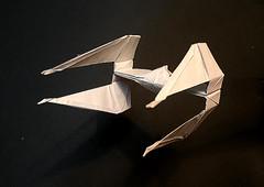 TIE Interceptor origami New version (Matayado-titi) Tags: starwars origami space tie vehicle spaceship starship tiefighter starfighter sugamata matayado