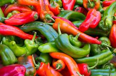 Market colours (loddeur) Tags: food colour detail pepper market sicily markt paprika catania sicilia stalls sicili