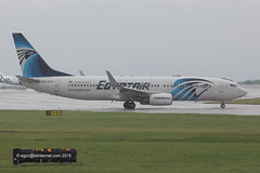 SU-GCR - 2009 Build Boeing B737-866, taxiing for departure at a saturated Manchester (egcc) Tags: man manchester ms boeing msr b737 ringway sugcr staralliance egcc egyptair b737800 b738 2826 35562 b737ng b737866