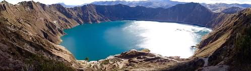Lac du cratère Quilotoa (3 914 m) - Volcan d'Équateur