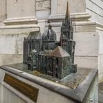 Bronze-Modell des Aachener Dom - Altstadt Aachen - Nordrhein-Westfalen - Deutschland thumbnail
