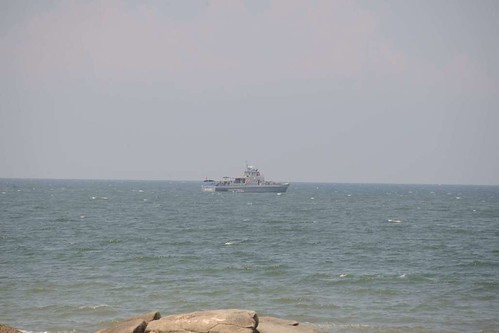 Hua Hin, Thai Navy on guard for the King