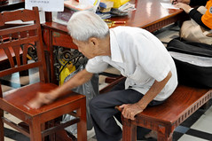True hospitality (Roving I) Tags: chairs cleaning vietnam service saigon hcmc hochiminh gentlemen postoffices getupandgo woodenfurniture nationaltreasures duongvanngo publicwriters