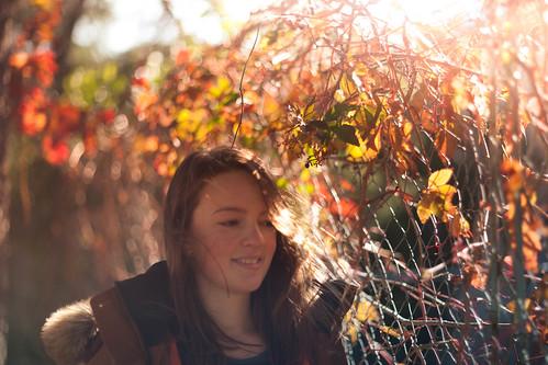 portrait wit leaves