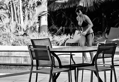 (dixoncamera.com) Tags: wedding woman sexy monochrome swimming swim canon asian 50mm photographer boobs furniture candid australian australia resort bikini thongs wicked weasel queensland cairns bathing seen
