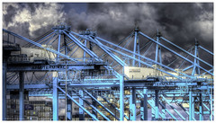 Container terminal (Luc V. de Zeeuw) Tags: netherlands clouds crane zuidholland containerterminal apm apmterminals maasvlakterotterdam