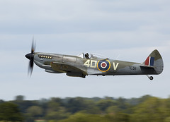 Spitfire (Bernie Condon) Tags: uk tattoo plane flying fighter display aircraft aviation military spit airshow ww2 spitfire raf warplane airfield ffd fairford vickers battleofbritain riat supermarine raffairford airtattoo fightercommand riat15