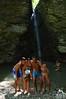 Amici Majellando alla Cascata di Cusano - Majella - Abruzzo - Italy