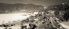 Resumption of PCH in Santa Monica (Evan Gearing (Evan's Expo)) Tags: california ca pier us view unitedstates santamonica pch highway1 hwy1 pacificcoasthighway