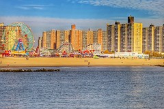 Coney Island, New York City, USA (LuciaB) Tags: newyorkcity usa beach brooklyn coneyisland amusementpark newyorkstate atlanticocean seasideresort