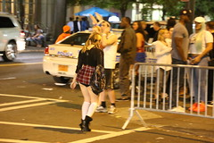 613   HALLOWEEN, CHARLOTTE, '16 (Lugrada) Tags: halloween charlotte characters costumes fun happy instep regal heels legs skirts skimpy military showing hangingout bunny chicks pink myotherside swinging
