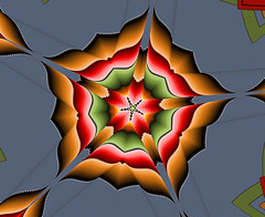 BrownRed2 5wedges (crescentmoongal) Tags: abstract color star kaleidoscopes