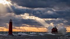 Grand Haven Lighthouse (ER Post) Tags: sunset lighthouse pier us unitedstates michigan lakemichigan ghs grandhaven springlake michiganlighthouse grandhavenlighthouse grandhavenpier lakemichiganlighthouse