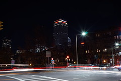 Back Bay Intersection (JS Wei) Tags: longexposure tower boston architecture night lights traffic busy intersection prudential backbay